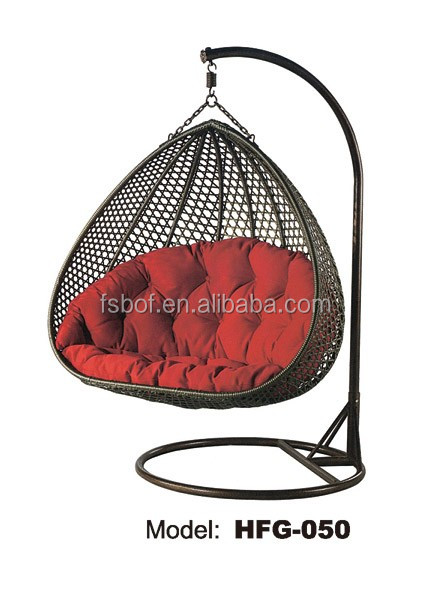 Wholesale Garden Oreclining Outdoor Swing Chair, Egg Shaped Wicker Chairs,  Indoor Hanging Swing Egg Chair HFG 050.