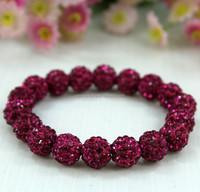 Charming Shamballa Bracelet, Shamballa Clay Rhinestone Pave Beadings Bracelet