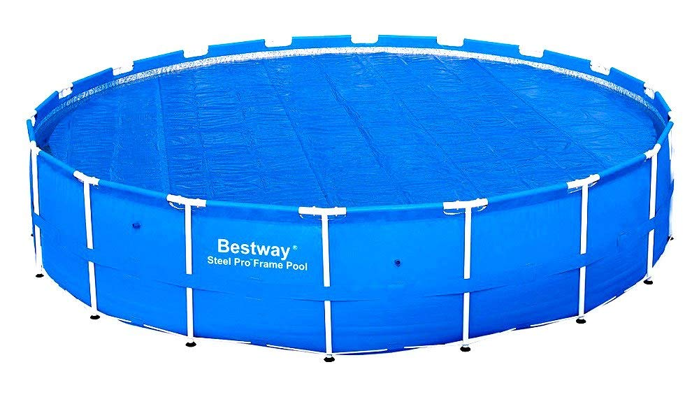 Get Quotations · Skroutz Swimming Pool Covers For Above Ground Pools 18 FT  Solar Heat Covers Durable Material