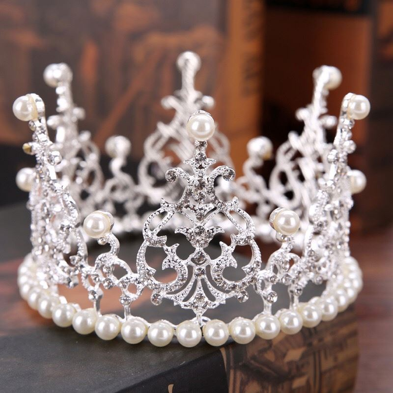 Madonna di Vacanza tiara di pasqua pageant crown, FrenchAntique Royal Crown Decorazione, casa del metallo Dell'annata corone