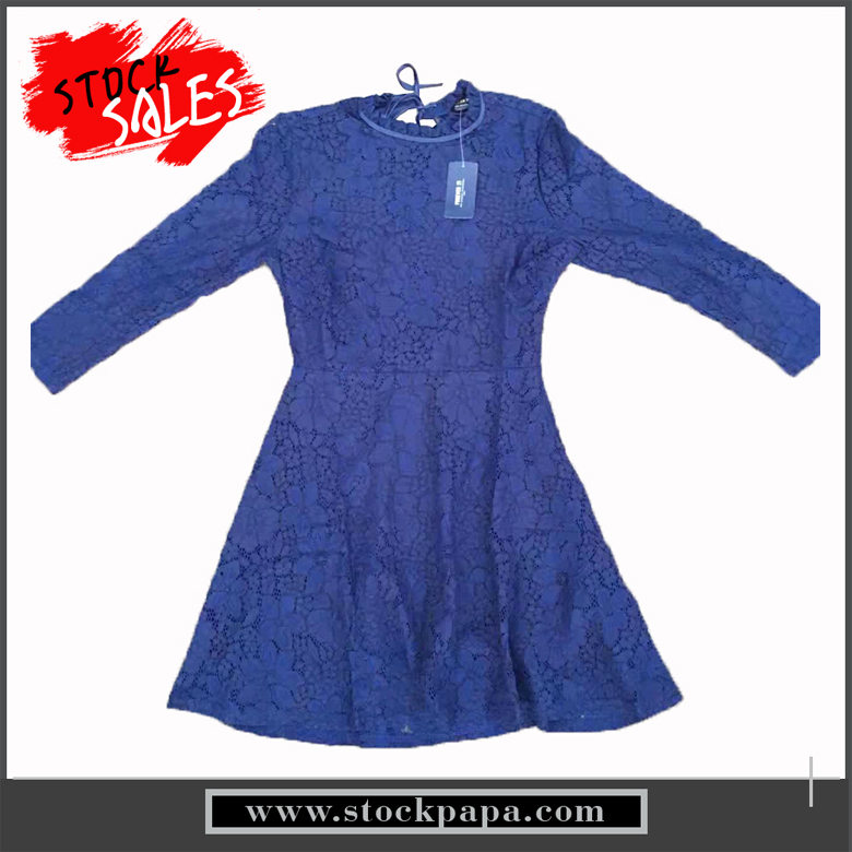 New design fashion casual solid color lace ladies dress clothes