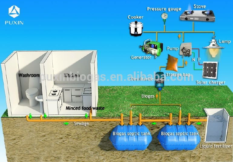 Household sewage treatment system septic tank in water for Septic tank fumes in house