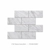 "3""x6"" carrara brick white marble mosaic interior decorative wall tile"