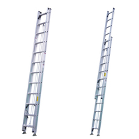 2section telescopic ladders aluminum 28 extension ladder