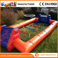 Team game inflatable table football field inflatable soccer pitch