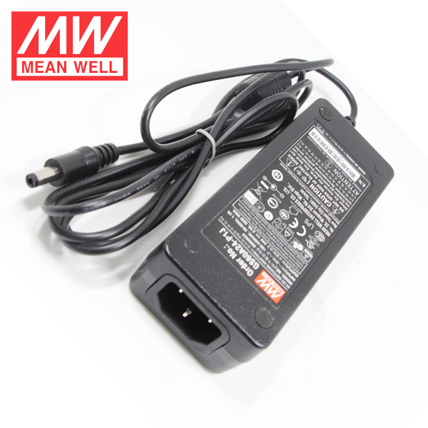 Model: GS60A24-P1J Mean Well 24V 2.5A 60W 3-Wire Reg Switching Power Supply