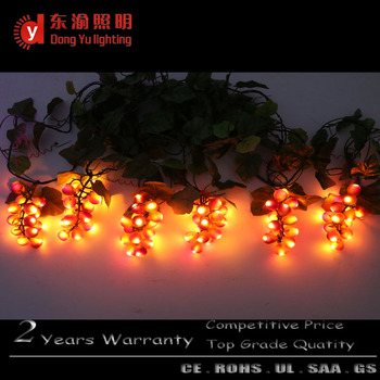 pathway patio holiday decorative led realistic grape cluster string