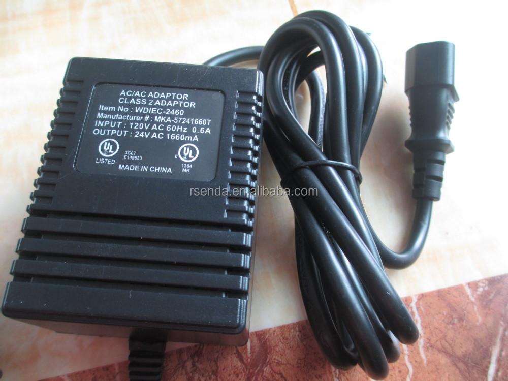120vac To 24vac 1600ma Usa Power Adaptor Ac Ac Transformer