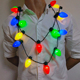 Hot Selling Bulb Shape Light Up LED Necklace for Christmas