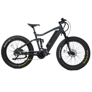 2018 hot selling alloy frame carbon fiber painting full suspension 26 * 4.8 fat tire electric bike