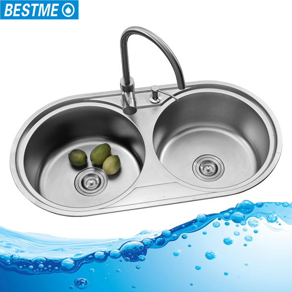 Low cost undercounter stainless steel kitchen sink