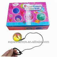 flashing bouncing ball with a string and a flash light 813302-58