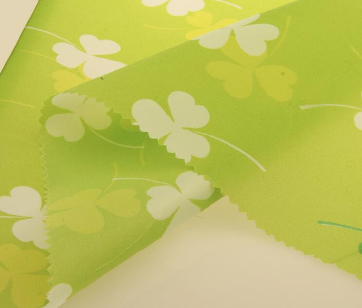 190T 210T Polyester Taffeta lining printing fabric PU/PVC coated