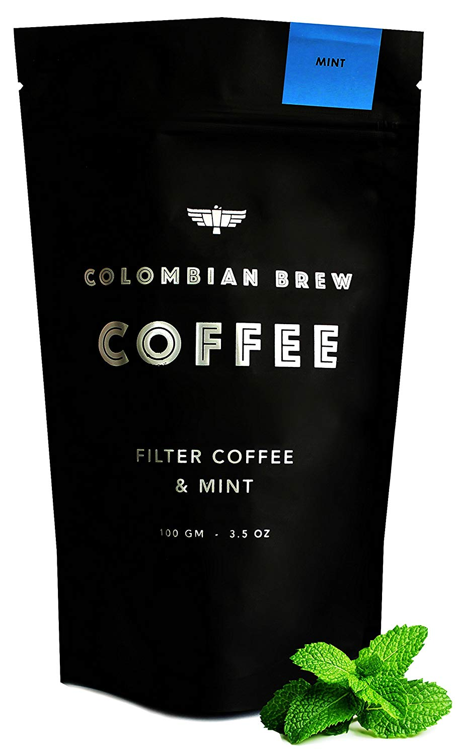Colombian Brew - 100% Arabica Ground Coffee with Mint, Freshly Roasted Medium Dark, 3.5 Ounce x Pack of 2