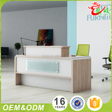 Wholesale 2017 latest design office furniture front table modern elegant office luxury reception desk