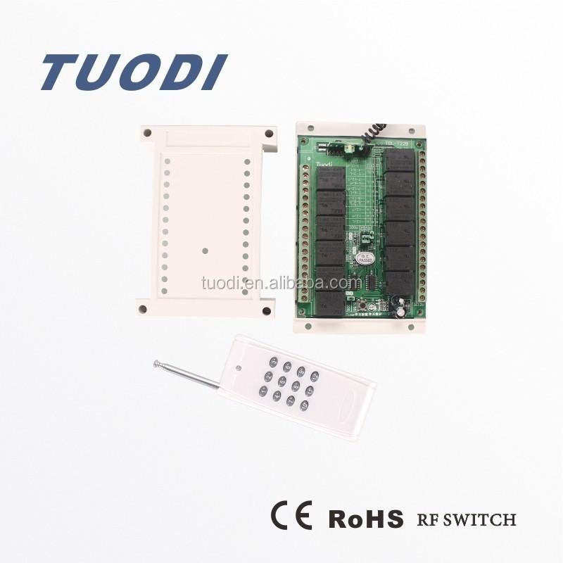 Tdl T22 Rf Remote Control Wall Switch 433 315 220v Ac 12 Channel Receiver  With Relay   Buy Remote Control Wall Switch,Remote Controlled Electrical  Switches ...