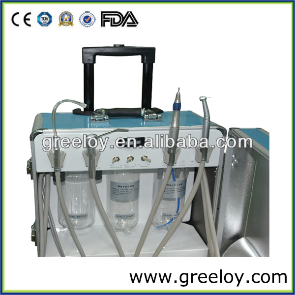 Dental Portable Dental Unit with Dental Air Compressor and Internal Water Bottle