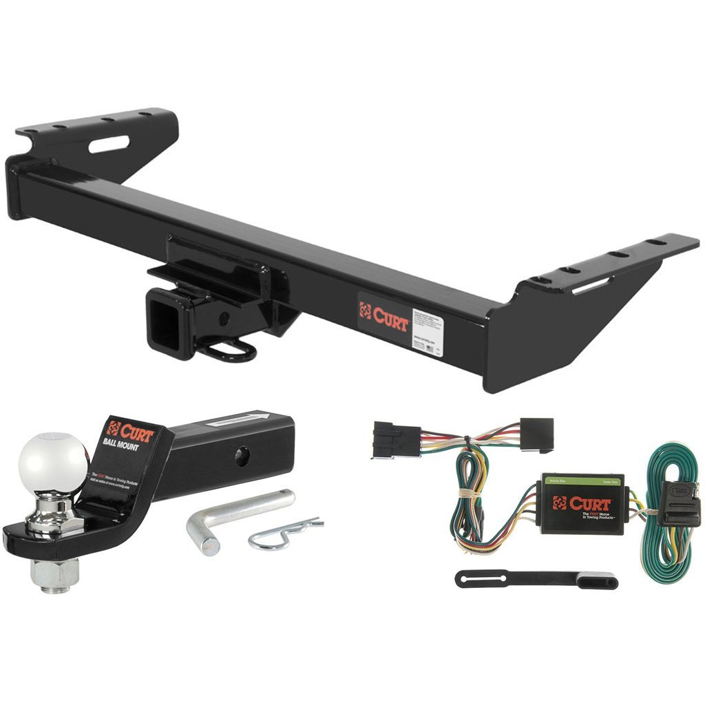 "CURT Class 3 Hitch Tow Package with 2-5/16"" Ball for 1991-1996 Jeep Cherokee"