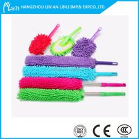 best price popular exporter fluffy chenille car care cleaning glove