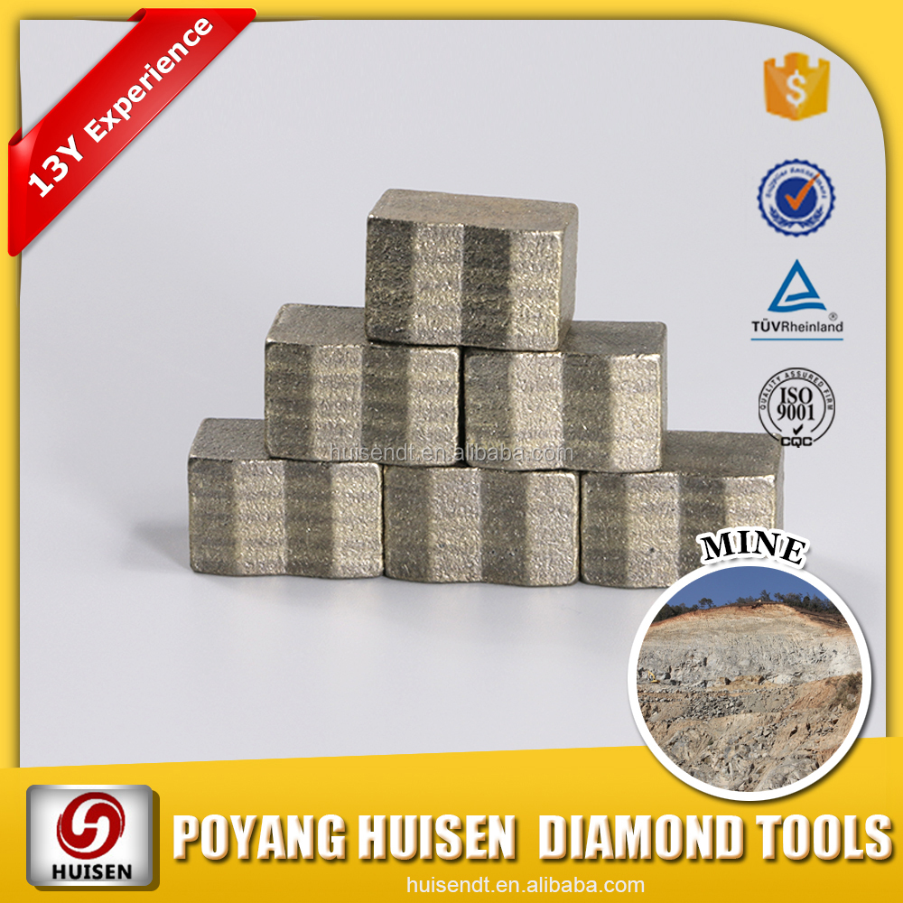 Huisen Diamond Tools Mining saw blade dia 2000-3600mm diamond segment/ diamond segment for mine