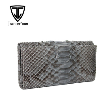 Jranter Genuine Python Snakeskin Clutch Bag Fashion Womens Leather Purse Wholesale