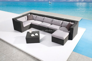 half round wicker patio furniture rattan sofa