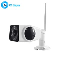 Waterproof IP66 bullet 720P HD wifi p2p ip camera with two-way audio IR detection video surveillance panoramic ip camera
