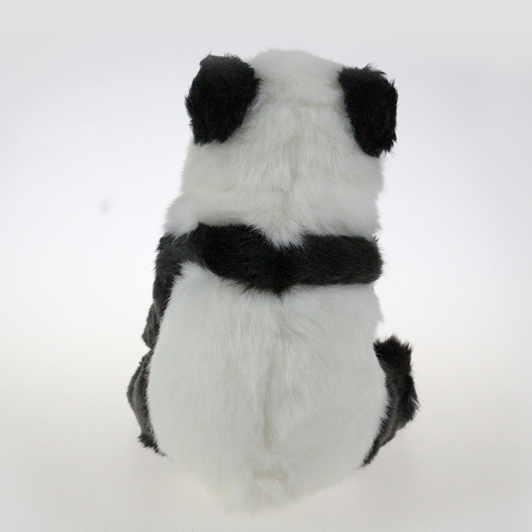Hot Sale 15cm Warm Baby Doll Black White Color Cuddy Toy Panda Stuffed Animals with Big Eyes with Kids