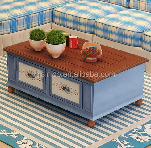 Mediterranen Stil Möbel Couchtisch, Landhausstil Wohnzimmer Passenden  Teetisch, Massivholz Couchtisch( Bf01  X1132