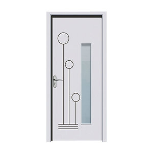 Wood plastic bathroom door with or without glass insert
