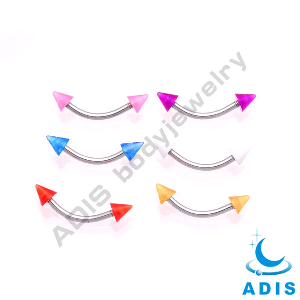 "Dongguan 16g 5/16"" Barbell Curved Eyebrow Rings Nipple Ear Bars Tragus Body Piercing Sets"