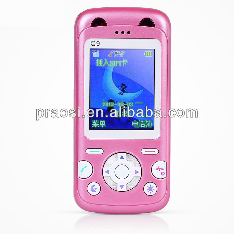 Q9 kid mobile phone with smart emergence calling & wallpaper & mp3 for children