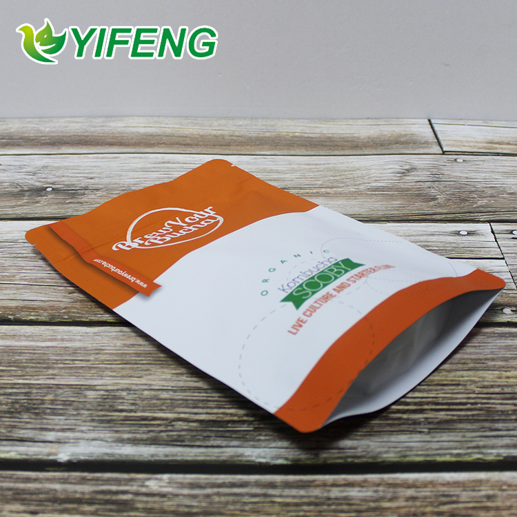 Aluminum foil nuts package bag, standing food grade foil lined dried fruit packaging