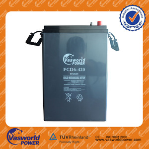 vrla Battery 6v 420ah deep cycle gel ecectrolyte batteries with 100% DOD Long designed life