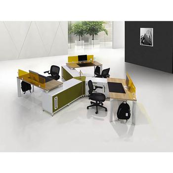 Gree Últimas Personalizada Oem Verde Material Buen Precio Productos  Abiertos Oficina Mesa De Trabajo Personal Escritorios - Buy Mesa De ...
