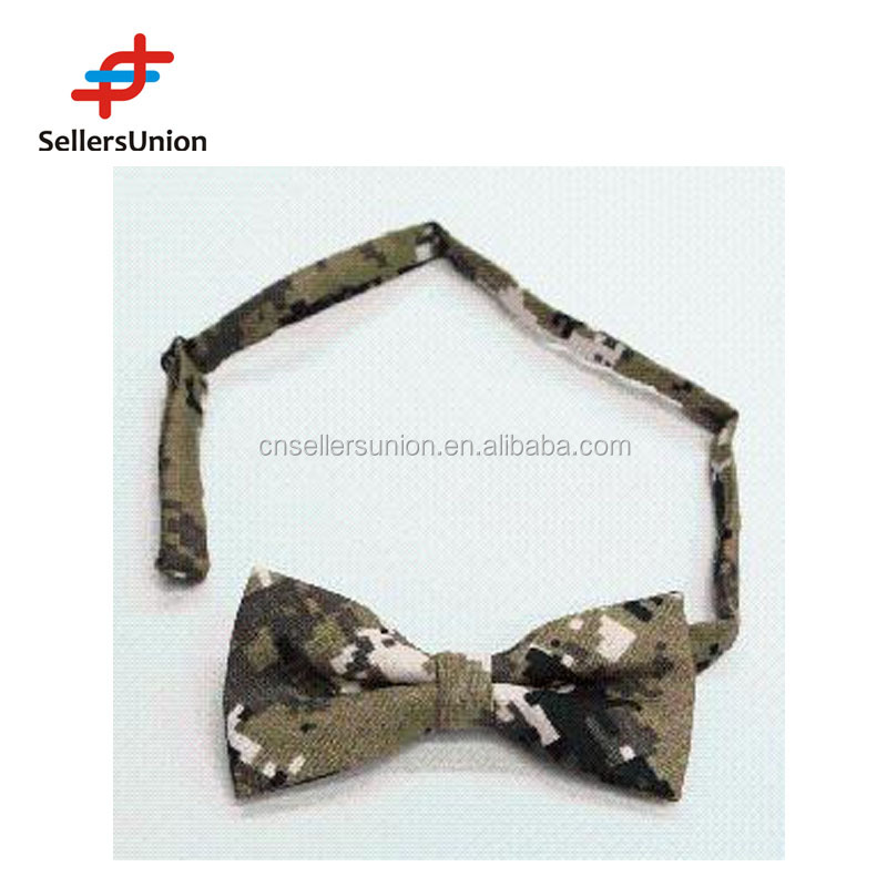 No.1 yiwu export commision agent hot sale camouflage pattern men neck bow tie cotton