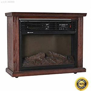 "COLIBROX-- 28"" Free Standing Electric Fireplace 1500W Glass View Log Flame Remote Home New Electric Wall Mount Fireplace Heater W/Remote New"