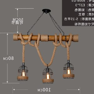 American nostalgic loft industrial bar lighting fixtures Man Cafe restaurant creative vintage iron rope chandelier