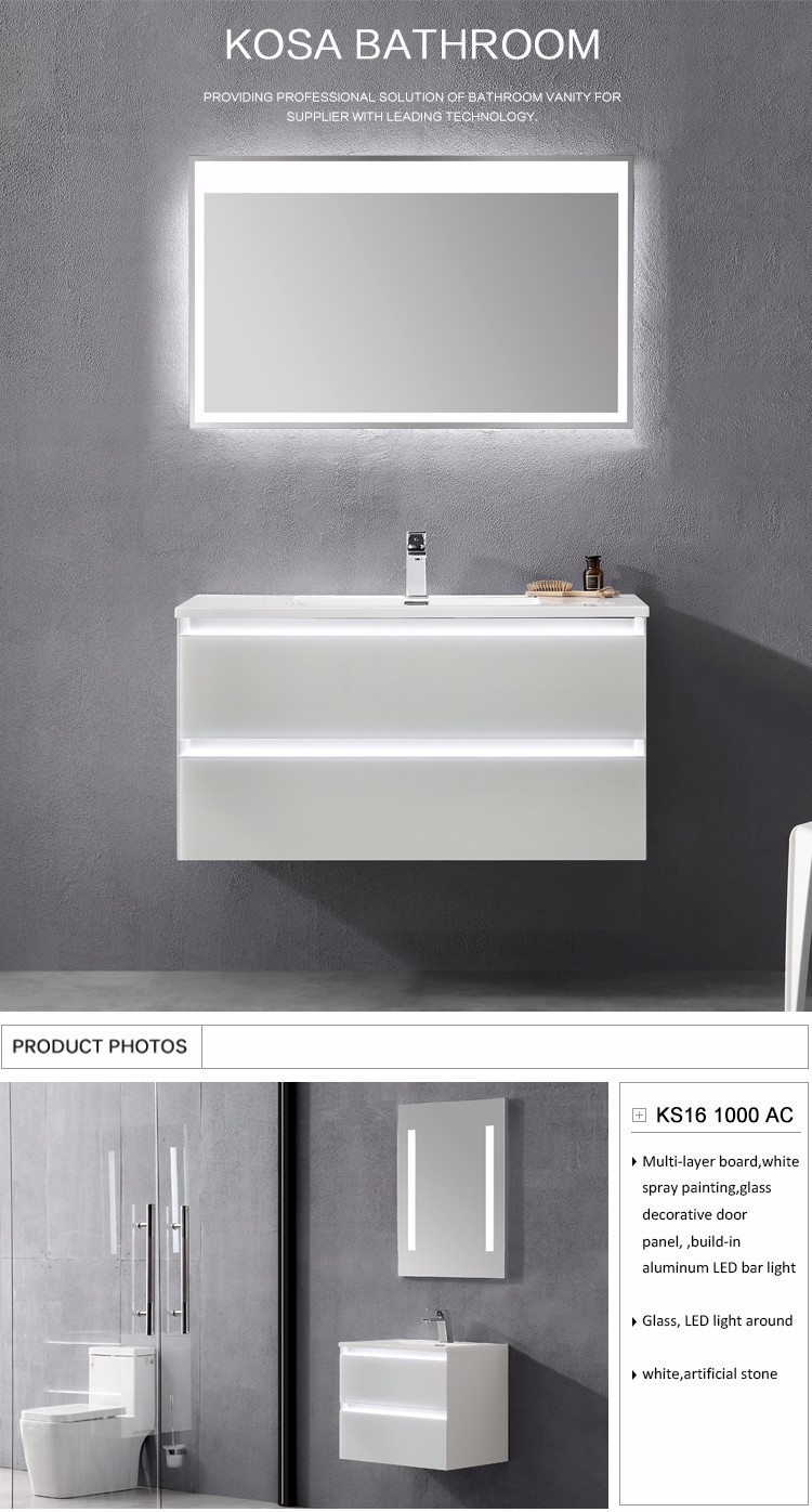 Kosa Size 1000 Modern Simple Bathroom Cabinet Wall Hanging Bathroom ...