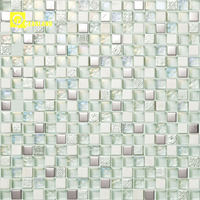 30x30 2018 new blue swimming pool crystal tile mosaic