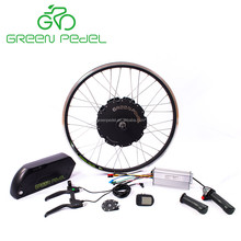 Greenpedel high quality preferred chinese manufacturers 48v 1000w electric bike hub motor conversion kit with battery