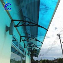 Aluminum bracket and polycarbonate sheet door canopy
