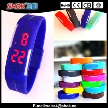 Customized silicone LED touch screen digital wrist watch instructions