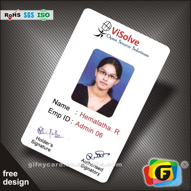 10 Custom Business Company Staff Membership ID Card Printed on Plastic PVC