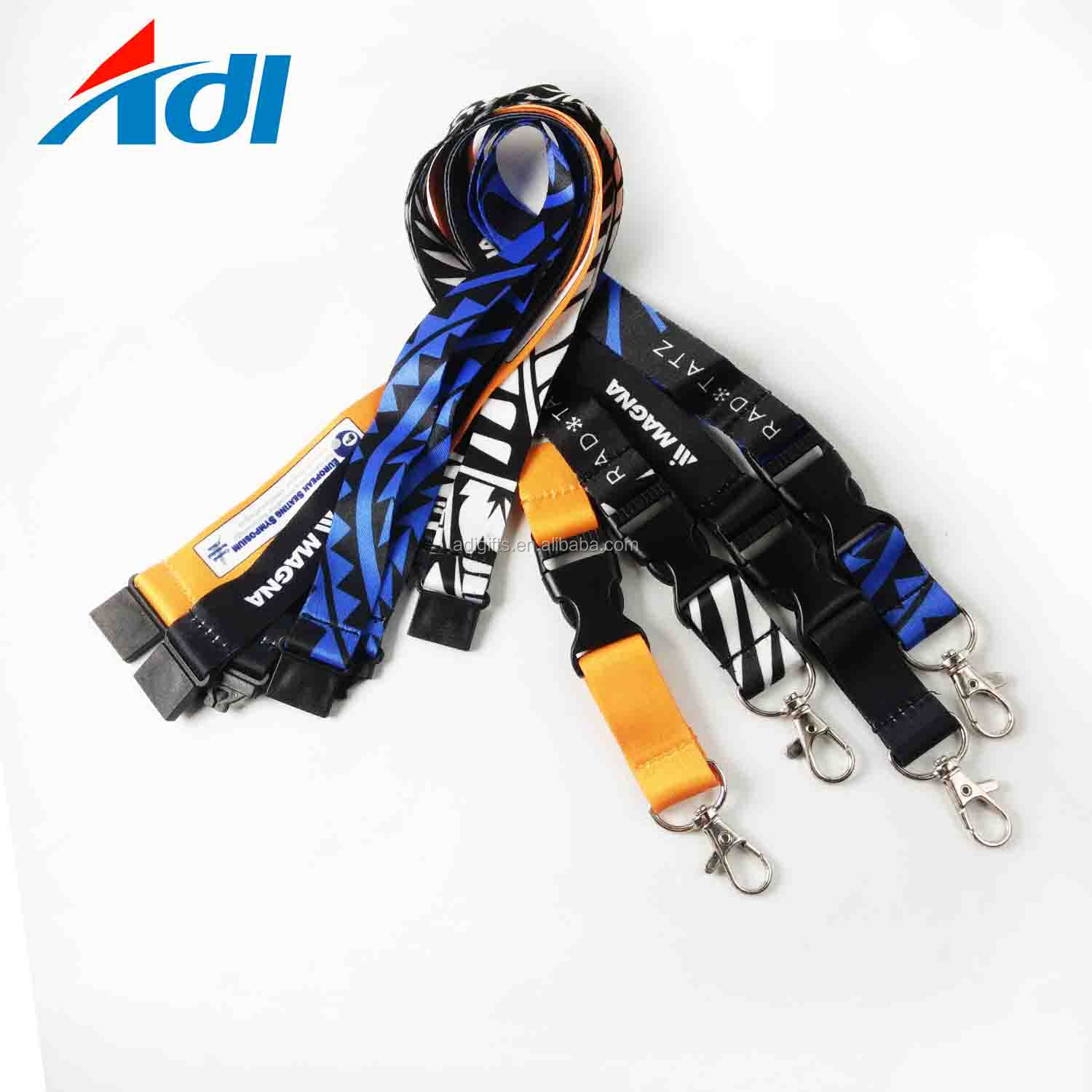 Promotional wholesales cheap custom black custom lanyard polyester lanyards