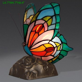 8inch l tiffany butterfly table lamp
