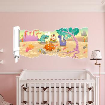 Kinderkamer Decoratie Verwijderbare 3d Muur Decor Sticker Slaapkamer ...