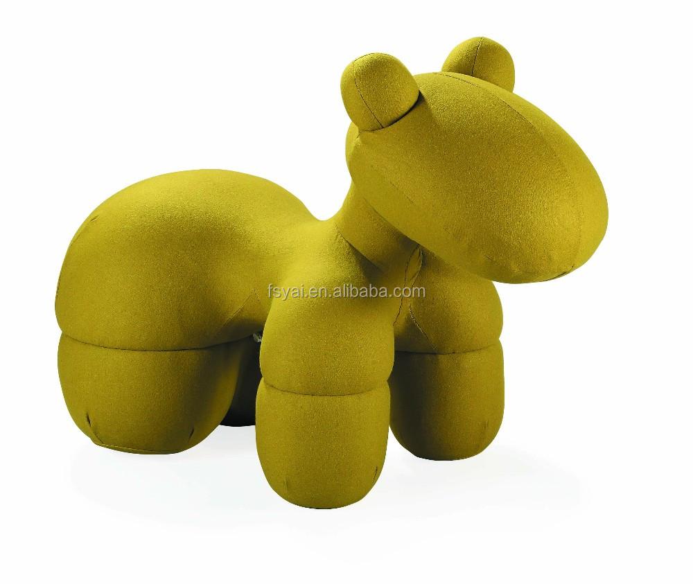 Elegant Lovely Kidsu0027 Fabric Cover Classic Eero Aarnio Children Fiberglass Pony Dog  Chair