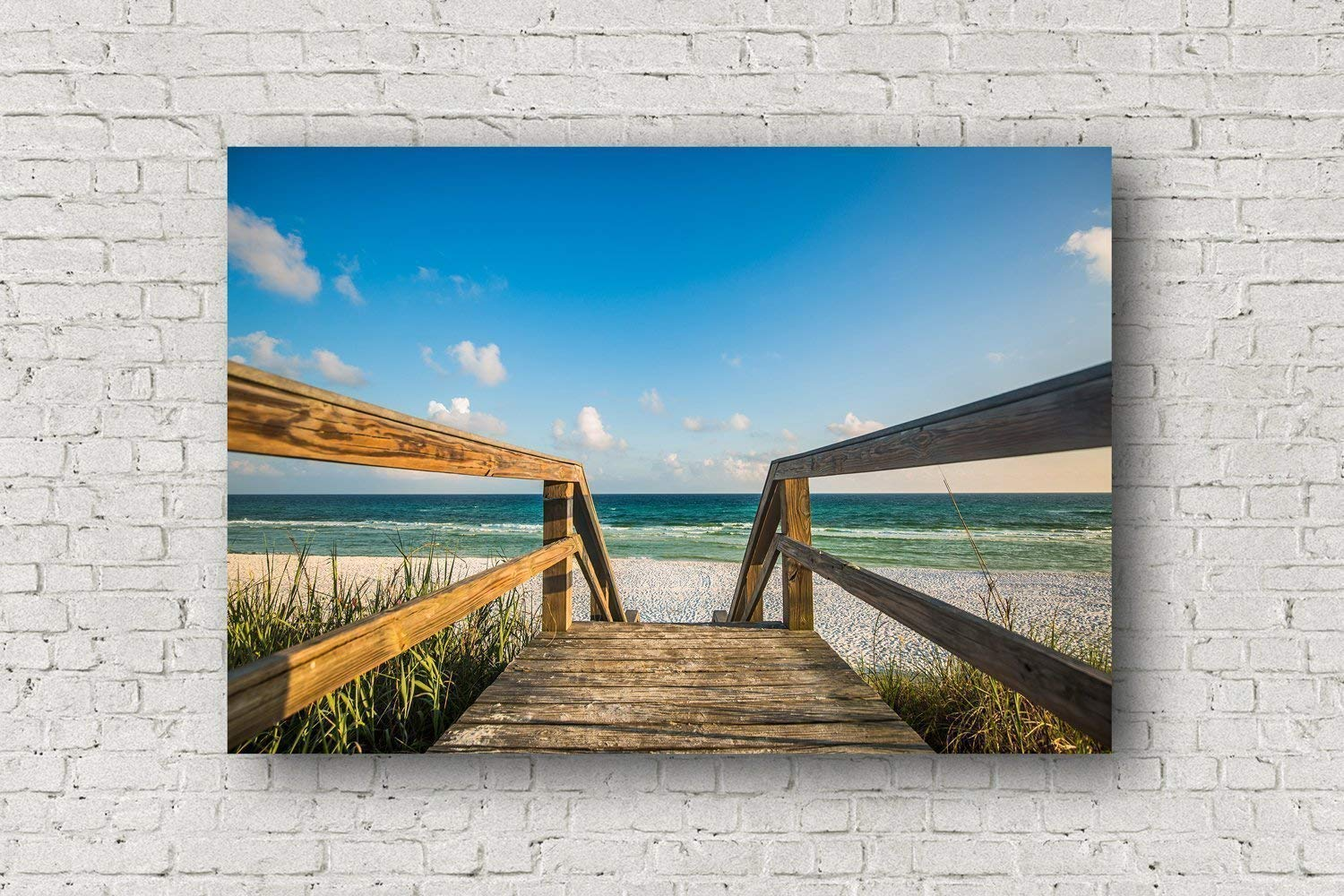 Beach Canvas Wall Art - Gallery Wrapped Canvas of Boardwalk Leading to Beach Near Destin Florida Beachhouse Home Decor 8x10 to 30x40