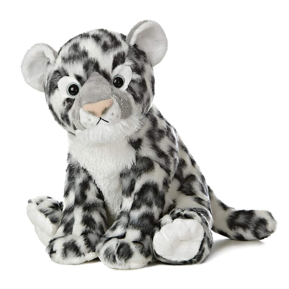 Snow Leopard Stuffed Animal Grey Soft